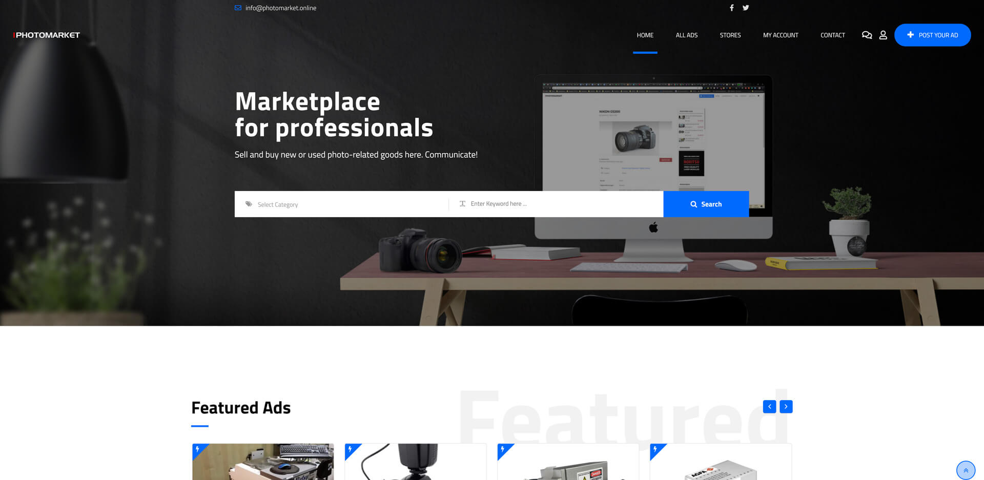 photomarket.online- a website created by Zollo.Design