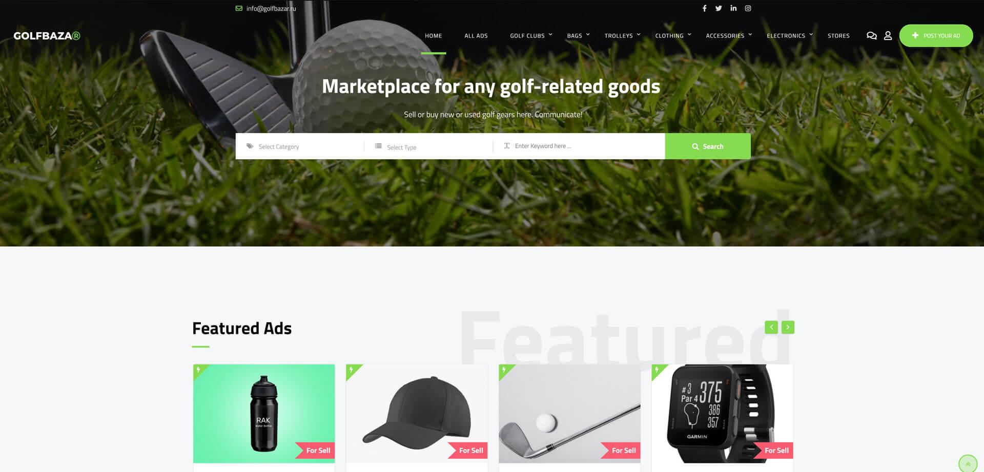 Golfbazar.ru-website created by zollo.design